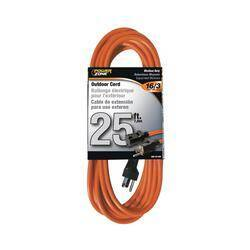 Power Zone OR501625 Ext Cord 16/3 25 ft Orange