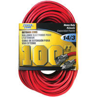 Power Zone ORK506735 Ext Cord 14/3 100 ft Blue/Yello