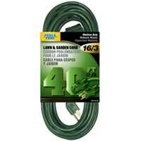 Power Zone OR880628 Ext Cord 16/3 40 ft Green Yard
