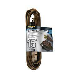Power Zone OR670615 Ext Cord 16/2 Spt-2 Brown 15 ft