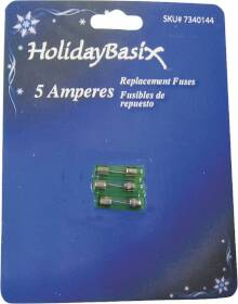 Holiday Basix U14Z103A 5a Replacement Fuses 3 Pack