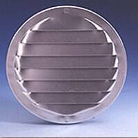 Maurice Franklin 5224456 3 in Round Aluminum Screen Louver Brn