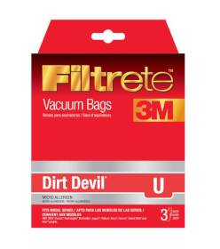 3M 65703A-6 Filtrete Dirt Devil Type U Vacuum Cleaner Bags, 3-Pack