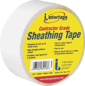 Intertape 5518USW 1.89 in x55yd White Sheathing Tape