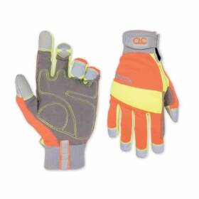 Custom Leathercraft 128L Hi Visibility Glove Large