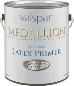 Valspar 190 Medallion Interior Latex Primer White 1 Gal
