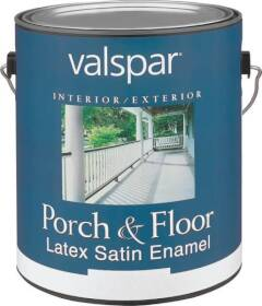 Valspar 1505 Porch and Floor Interior/Exterior Latex Paint Satin Clear Base Gallon