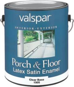 Valspar 1505 Porch and Floor Interior/Exterior Latex Paint Satin Clear Base 1 Qt