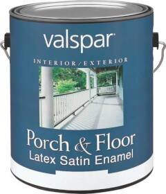 Valspar 1534 Porch and Floor Interior/Exterior Latex Paint Satin Dark Gray 1 Gal
