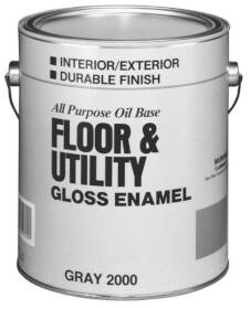 Valspar 2000 Interior/Exterior Floor And Utility Enamel Paint Gray