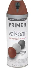 Valspar 85056 Premium Interior/Exterior Multi-Surface Primer Spray Paint Red Oxide Matte Finish 12-Ounce Can