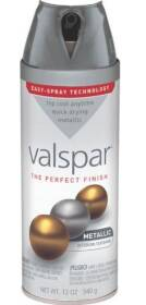 Valspar 85053 Multi-Surface Enamel Spray Paint Metallic Aluminum 12 oz