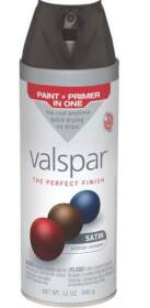 Valspar 85049 Multi-Surface Enamel Spray Paint Satin Black 12 oz