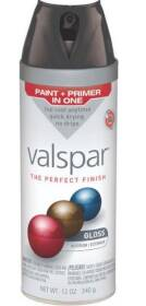 Valspar 85048 Multi-Surface Enamel Spray Paint Gloss Black 12 oz
