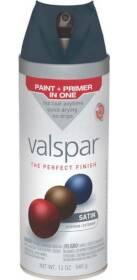 Valspar 85029 Multi-Surface Enamel Spray Paint Satin Indigo Streamer 12 oz