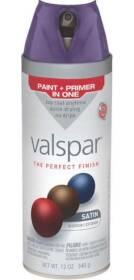 Valspar 85025 Multi-Surface Enamel Spray Paint Satin Sumptuous Purple 12 oz