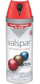 Valspar 85014 Twist And Spray Interior/Exterior Multi-Surface Enamel Spray Paint Classic Red Gloss Finish 12-Ounce Can