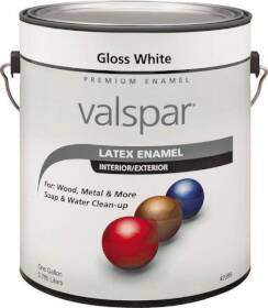 Valspar 65000 Premium Latex Enamel Paint Gloss White 1 Gal