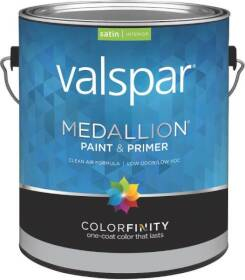 Valspar 3405 Medallion Interior Latex Paint Satin Clear Base 1 Gal