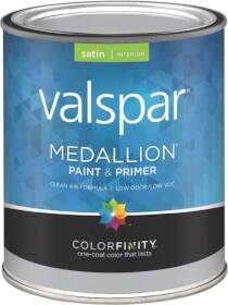Valspar 3405 Medallion Interior Latex Paint Satin Clear Base 1 Qt