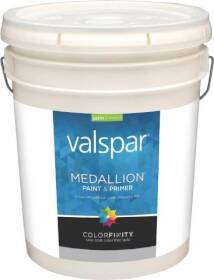 Valspar 3408 Medallion Interior Latex Paint Satin Pastel Base 5 Gal