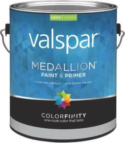 Valspar 3400 Medallion Interior Latex Paint Satin White Gallon