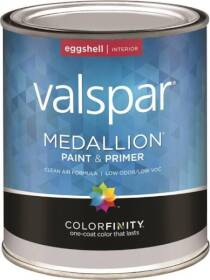Valspar 4400 Medallion Interior Latex Paint And Primer Eggshell White Qt