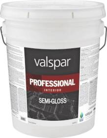 Valspar 11914 Professional Interior Latex Paint Semi-Gloss Neutral Base 5 Gal