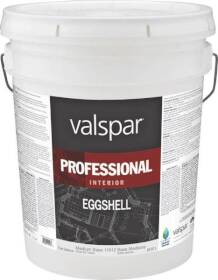 Valspar 11812 Professional Interior Latex Paint Eggshell Medium Base 5 Gal