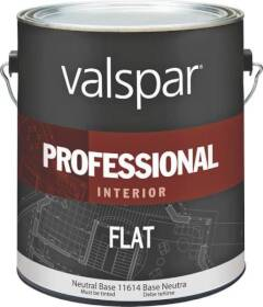 Valspar 11614 Professional Interior Latex Paint Flat Neutral Base 1 Gal