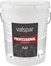 Valspar 11612 Professional Interior Latex Paint Flat Medium Base 5 Gal