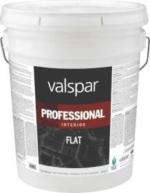 Valspar 11600 Professional Latex Paint Flat White 5 Gal