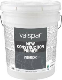 Valspar 11287 New Construction Interior Primer White 5 Gal
