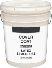 Valspar 456 Cover Coat Interior Latex Paint Semi-Gloss Antique White 5 Gal