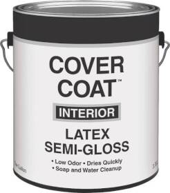 Valspar 455 Cover Coat Interior Latex Paint Semi-Gloss White 1 Gal