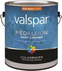 Valspar 2405 Medallion Interior Latex Paint And Primer Semi-Gloss Clear Base Gallon