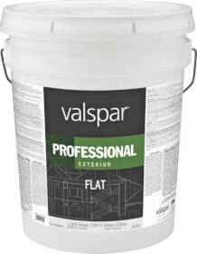 Valspar 12611 Professional Exterior Latex Paint Flat Light Base 5 Gal