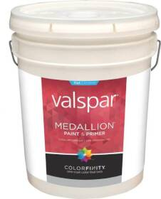 Valspar 45505 Medallion Latex Paint Flat Clear Base 5 Gal