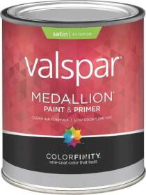 Valspar 4100 Medallion Exterior Latex Paint Satin White 1 Qt