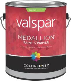 Valspar 4100 Medallion Exterior Latex Paint Satin White 1 Gal