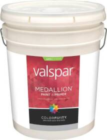 Valspar 4102 Medallion Exterior Latex Paint Satin Tint Base 5 Gal