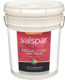 Valspar 4308 Medallion Exterior Latex Paint Semi-Gloss Pastel Base 5 Gal