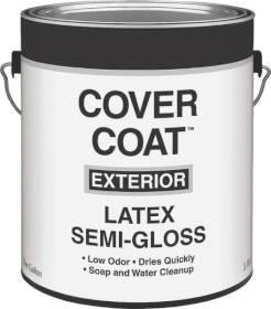 Valspar 755 Cover Coat Exterior Latex Paint Semi-Gloss White 1 Gal