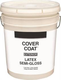 Valspar 755 Cover Coat Contractor Grade Exterior Latex Paint Semi-Gloss White 5 Gal