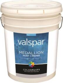 Valspar 1408 Medallion Interior Latex Paint And Primer Flat Pastel Base 5 Gal