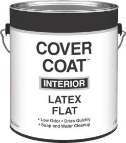 Valspar 257 Cover Coat Interior Latex Paint Flat Dover White 1 Gal