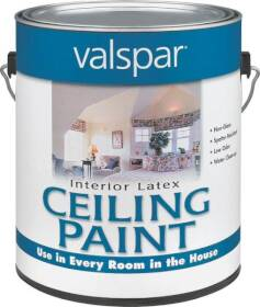 Valspar 1426 Ceiling Interior Latex Paint Flat White 1 Gal