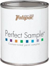 Valspar 3412 Perfect Sample Latex Paint Satin Yellow Base 1 Pt