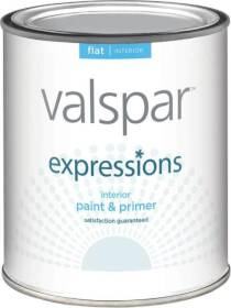 Valspar 17001 Expressions Latex Paint Flat White 1 Qt