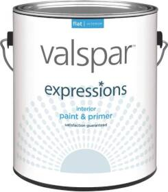 Valspar 17001 Expressions Latex Paint Flat White 1 Gal